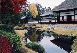 秋・南庭園からみた孔子廟写真