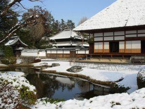 冬・雪の方丈・孔子廟写真