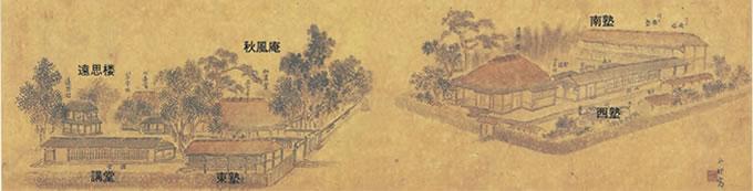 咸宜園絵図